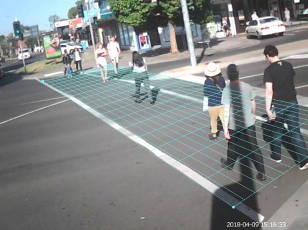 Figure3-Pedestrian speed survey (a)