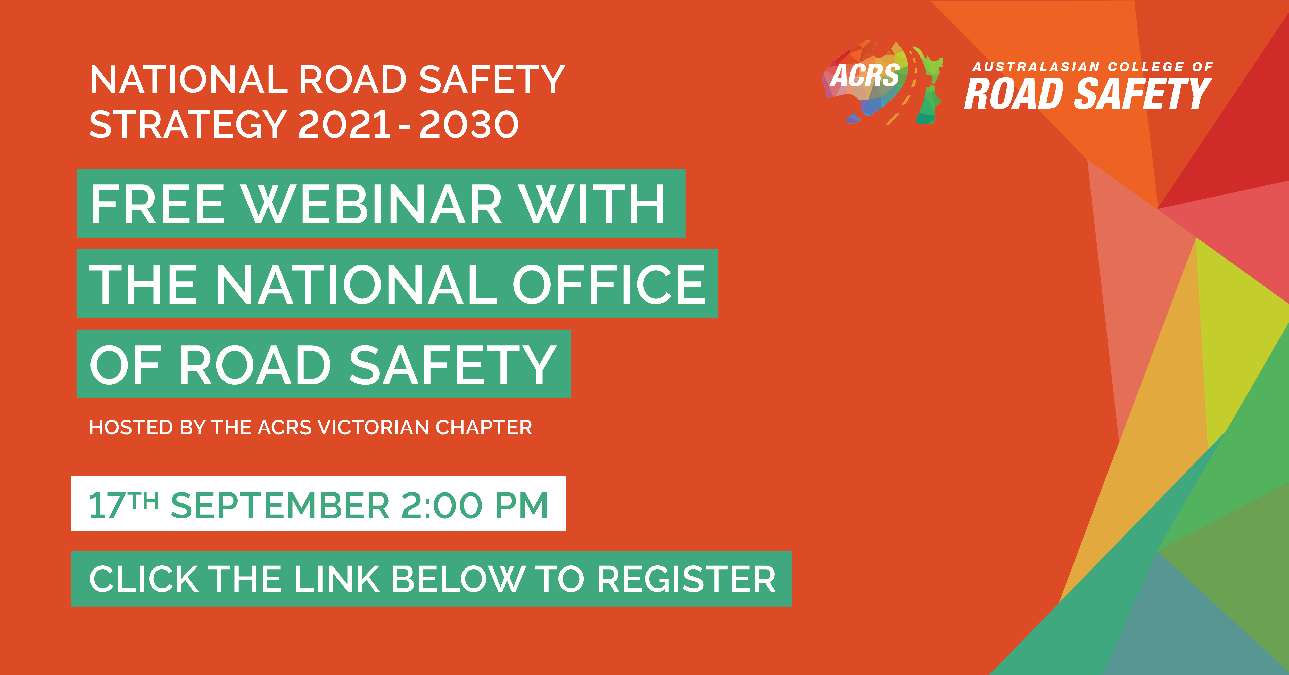 ACRS Webinar: The new National Road Safety Strategy 2021 to 2030 and the Social Model Approach