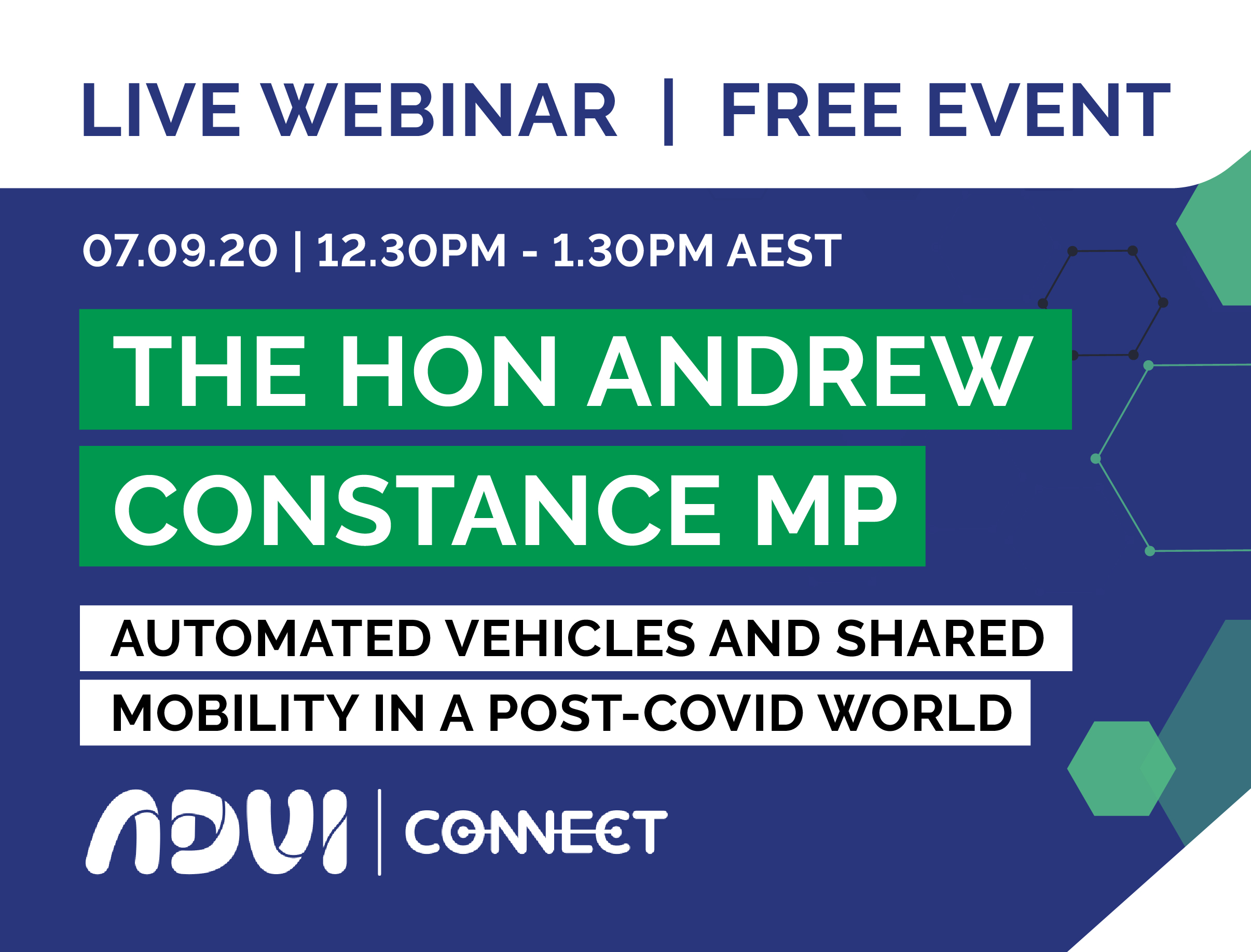ADVI Webinar and Q&A with the Hon Andrew Constance MP and Rita Excell